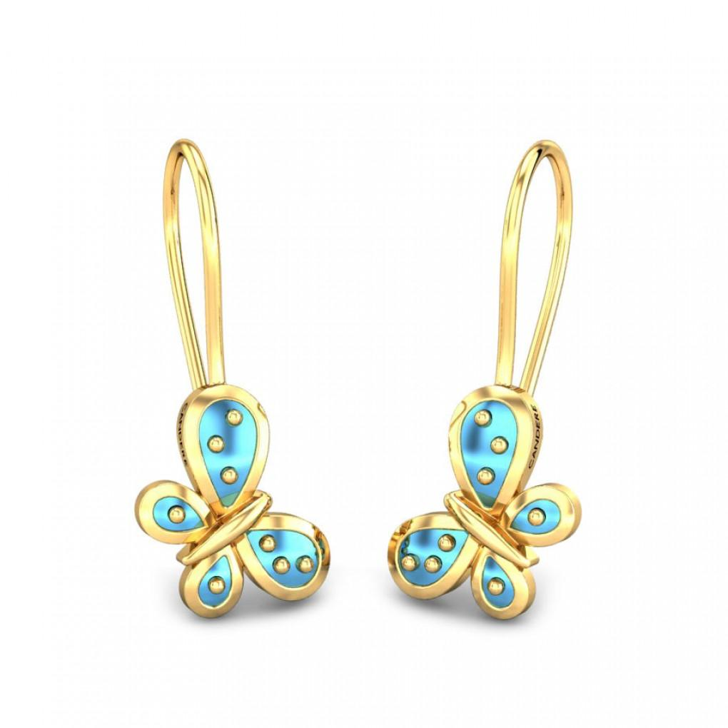Sway Away Kids Gold Earrings Online Jewellery Shopping India   Yellow Gold  14K   Candere by Kalyan Jewellers