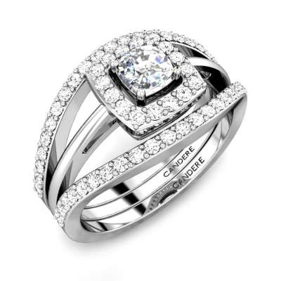 Love Cushion Stackable Diamond Engagement Ring