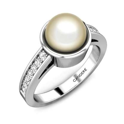 The Full Moon White Pearl Ring