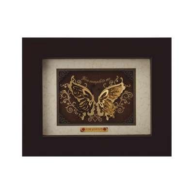 Butterfly Couple 24K Gold Foil Gifting Frame