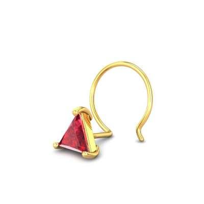 Zesty Red Spinel Nose pin