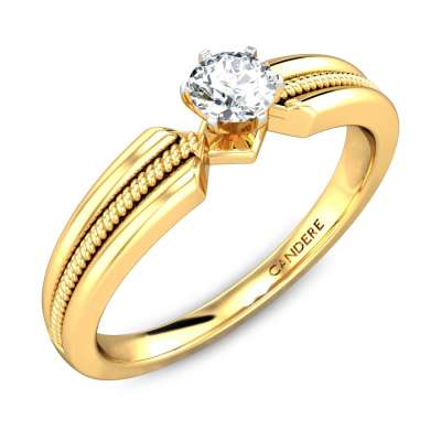 Spear Heads Solitaire Diamond Engagement Ring