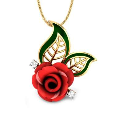 Romancing the Rose Gemstone Pendant