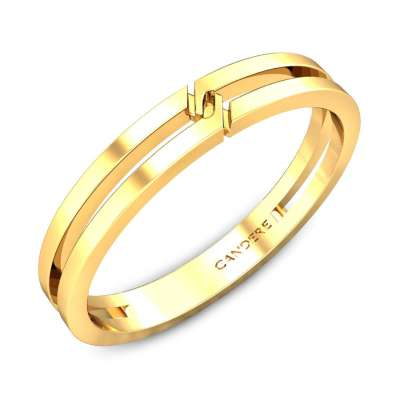 June Gold Wedding Band for Her