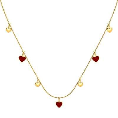 Floating Hearts Gold Necklace