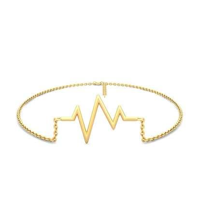 Beating Heart Gold Anklet