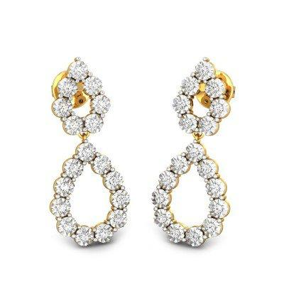 RAINDROPS MIRACLE PLATE DIAMOND EARRINGS