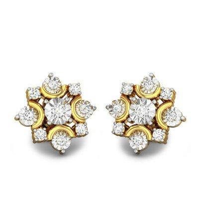 NIGHT LIGHT MIRACLE PLATE DIAMOND EARRINGS