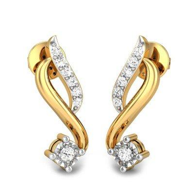 ELISA MIRACLE PLATE DIAMOND EARRINGS